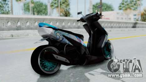 Honda Vario 110 Hatsune Miku Itansha for GTA San Andreas left view