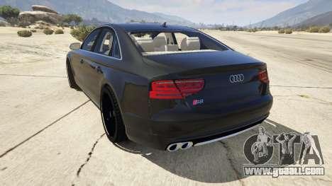 GTA 5 2013 Audi S8 4.0TFSI Quattro rear left side view