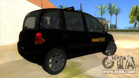 Fiat Multipla FAKETAXI for GTA San Andreas right view