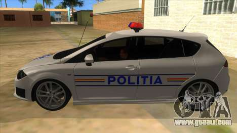 Seat Leon Cupra Romania Police for GTA San Andreas left view