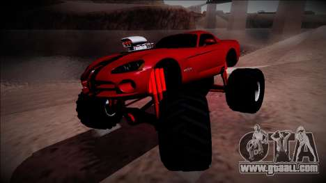 Dodge Viper SRT10 Monster Truck for GTA San Andreas right view
