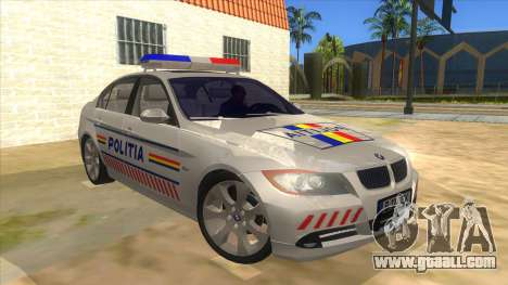 BMW 330XD Romania Police for GTA San Andreas back view