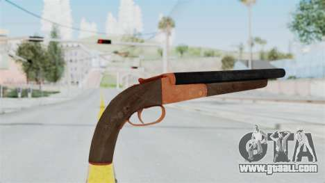 Double Barrel Shotgun Orange Tint (Lowriders CC) for GTA San Andreas third screenshot