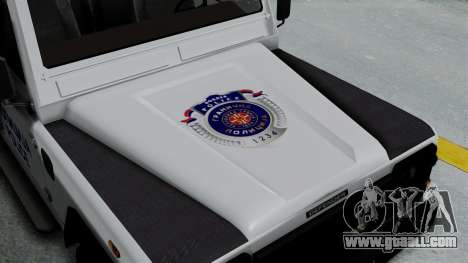 Land Rover Defender Serbian Border Police for GTA San Andreas back view