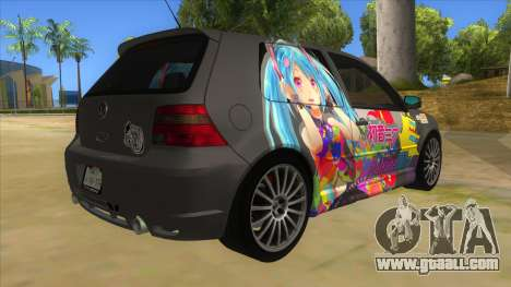 Volkswagen Golf R32 Hatsune Miku Itasha for GTA San Andreas right view
