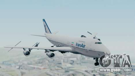 Boeing 747-186B Iran Air for GTA San Andreas back left view