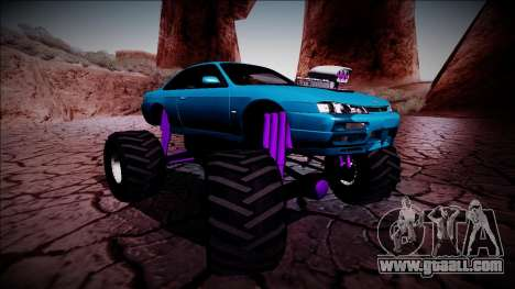 Nissan Silvia S14 Monster Truck for GTA San Andreas interior