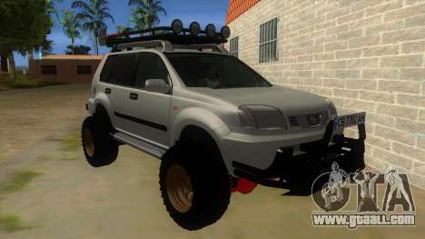 Nissan X-Trail 4x4 Dirty by Greedy for GTA San Andreas back view