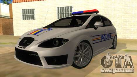 Seat Leon Cupra Romania Police for GTA San Andreas