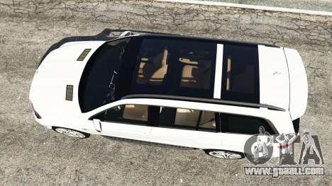 GTA 5 Mercedes-Benz GL63 (X166) AMG back view