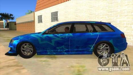Audi RS6 Blue Star Badgged for GTA San Andreas left view