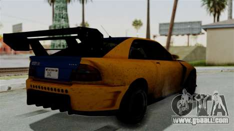GTA 5 Karin Sultan RS Drift Big Spoiler for GTA San Andreas left view