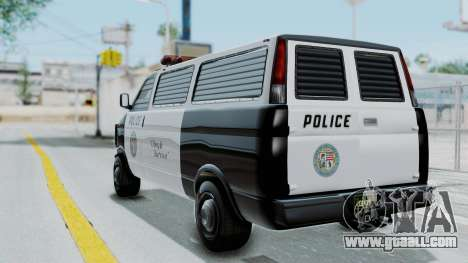 GTA 5 Declasse Burrito Police Transport IVF for GTA San Andreas left view
