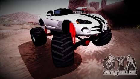Dodge Viper SRT10 Monster Truck for GTA San Andreas inner view