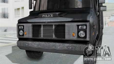 The police van from RE Outbreak for GTA San Andreas right view