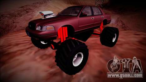 2003 Ford Crown Victoria Monster Truck for GTA San Andreas upper view