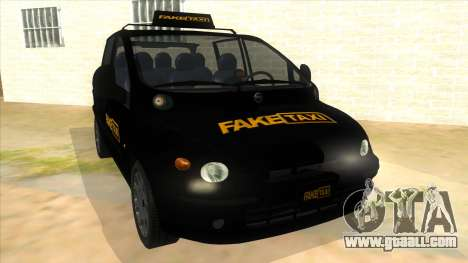 Fiat Multipla FAKETAXI for GTA San Andreas back view