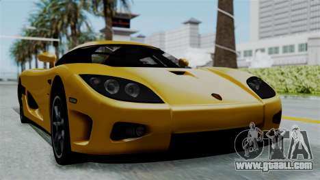 Koenigsegg CCXR 2013 for GTA San Andreas back left view
