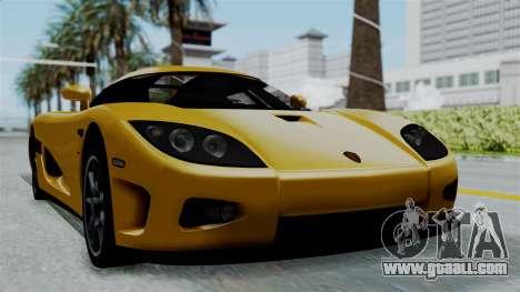 Koenigsegg CCXR 2013 for GTA San Andreas back left view
