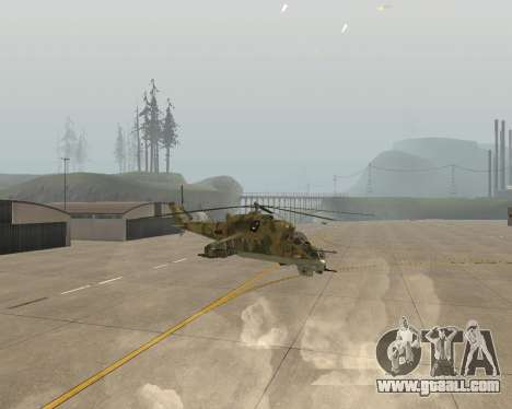 An Mi-24 At The Crocodile for GTA San Andreas right view