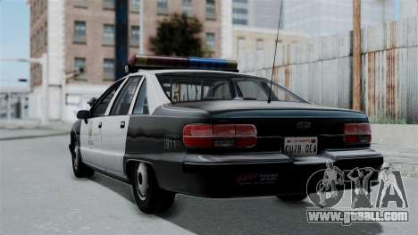 Chevrolet Caprice 1991 CRASH Division for GTA San Andreas left view