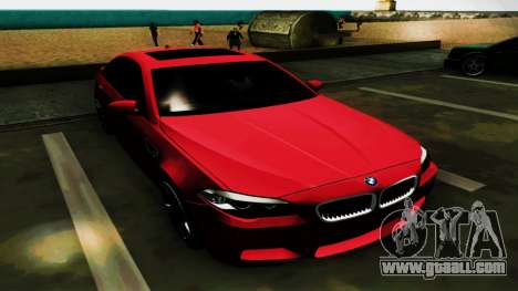 BMW M5 F10 for GTA San Andreas upper view