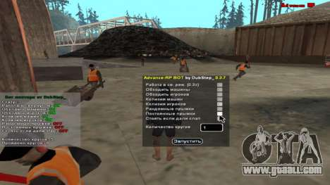 Bot miner ARP 0.3.7 for GTA San Andreas