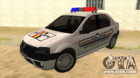 Dacia Logan Romania Police for GTA San Andreas