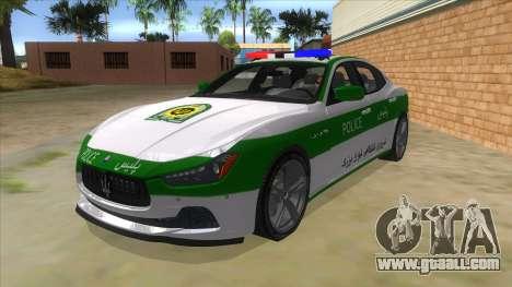 Maserati Iranian Police for GTA San Andreas