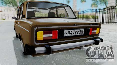 VAZ 2106 for GTA San Andreas bottom view