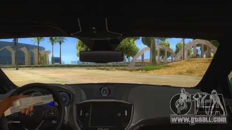 Maserati Iranian Police for GTA San Andreas inner view