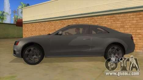 Audi S5 Sedan V8 for GTA San Andreas left view