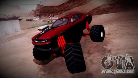 2009 Dodge Challenger SRT8 Monster Truck for GTA San Andreas side view