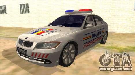 BMW 330XD Romania Police for GTA San Andreas
