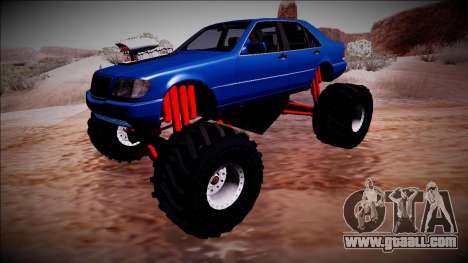 Mercedes-Benz W140 Monster Truck for GTA San Andreas inner view