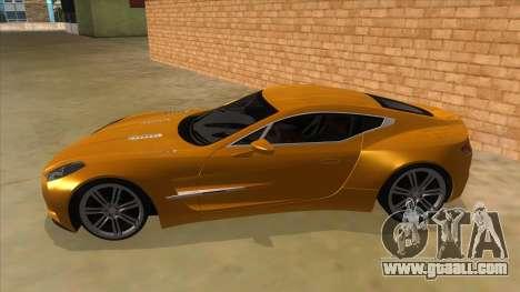 Aston Martine One-77 2010 Autovista for GTA San Andreas left view