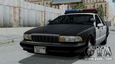 Chevrolet Caprice 1991 CRASH Division for GTA San Andreas