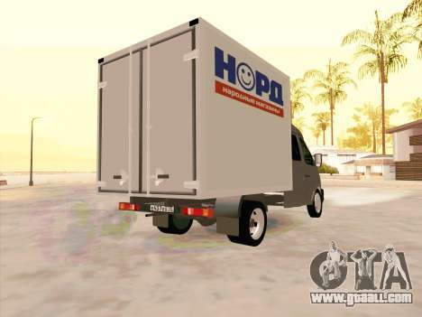 GAZ 33023 NORD for GTA San Andreas left view