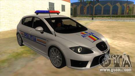 Seat Leon Cupra Romania Police for GTA San Andreas back view