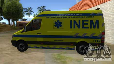 Mercedes-Benz Sprinter INEM Ambulance for GTA San Andreas left view