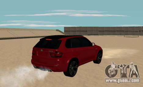 BMW X5M 2011 for GTA San Andreas back left view