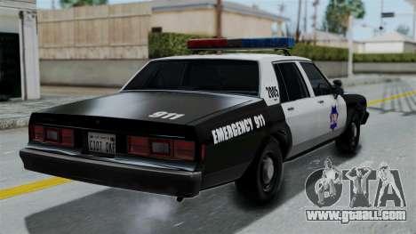 Chevrolet Impala 1985 SFPD for GTA San Andreas left view