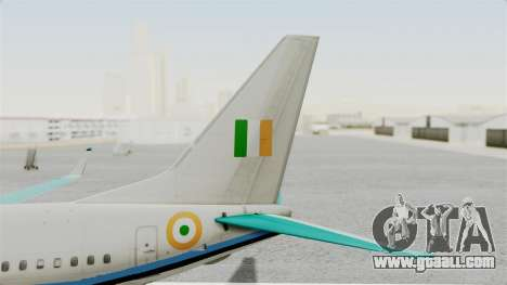 Boeing 737-800 Business Jet Indian Air Force for GTA San Andreas back left view