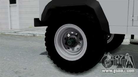 Land Rover Defender Serbian Border Police for GTA San Andreas back left view