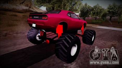 2009 Dodge Challenger SRT8 Monster Truck for GTA San Andreas left view