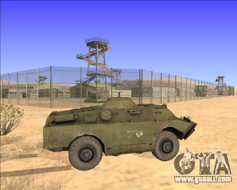 BRDM-2ЛД for GTA San Andreas inner view