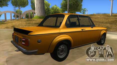 1974 BMW 2002 turbo v1.1 for GTA San Andreas right view