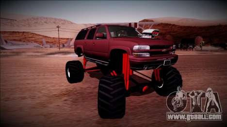 2003 Chevrolet Suburban Monster Truck for GTA San Andreas inner view