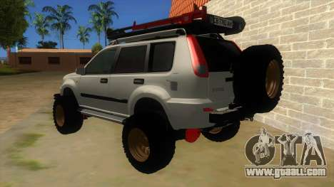 Nissan X-Trail 4x4 Dirty by Greedy for GTA San Andreas back left view
