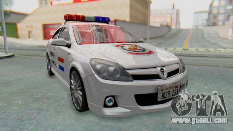 Opel-Vauxhall Astra Policia for GTA San Andreas back left view
